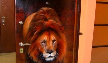 Металлическая дверь с росписью