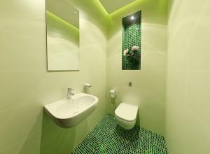 Фото туалета декорированного мозаикой, yydesign.ru