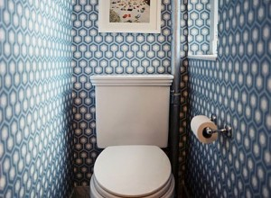 Отделка туалетной комнаты обоями, home-ideas.ru