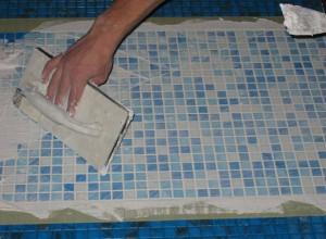 Процесс укладки мозаики, kubikrubik.net