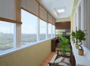 Дизайн лоджии в современном стиле, foto-intererov.com