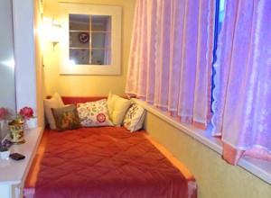 Фотография летней спальни на лоджии, fotodesigna.ru