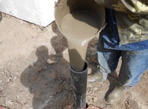 Заливка столбчатого фундамента бетоном, fundamentt.com