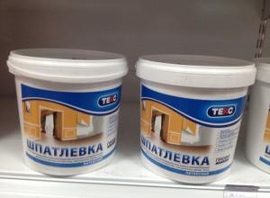 На фото латексная шпатлевка Текс, mgs2010.ru