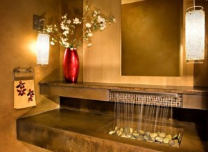 Ванная с декоративным фонтаном, novate.ru