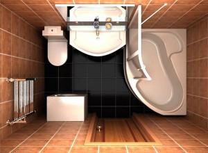Изображение ванной с душевой кабиной, frandesign.ru