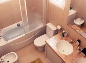 На фото совмещенная ванна и туалет