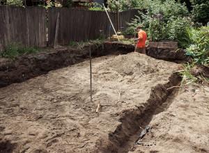 Траншеи для ленточного фундамента, redwoodstone.com