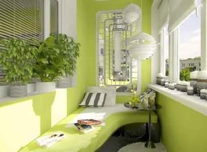 Уголок отдыха на застекленном балконе, xdir.ru
