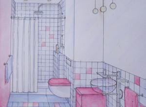 Эскиз дизайна маленькой ванной комнаты, wada.ru