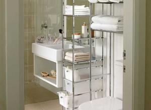 Эргономичная мебель для маленькой ванной, interiorgid.ru