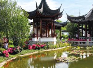 Фото декоративного пруда в китайском стиле, da-nn.com