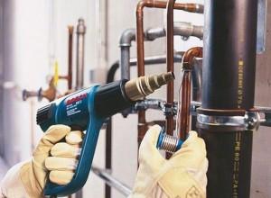 Фотография пайки труб термофеном, valeon.com.u
