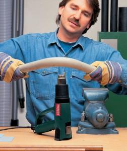Плавление пластиковых труб с помощью фена