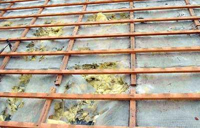 Повреждение теплоизоляции крыши