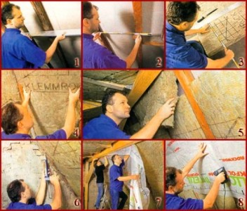 Фото утепления мансарды изнутри минеральной ватой(часть 1)