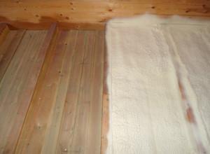 Утепление деревянного пола напылением, teplotexnik.ru