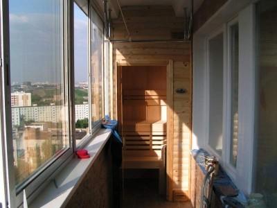 Балкон сауна