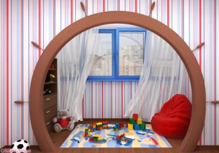 Изображение детской игровой комнаты на балконе