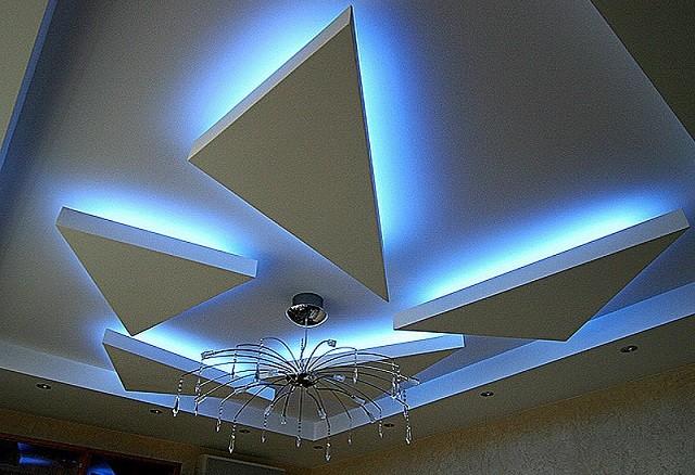 Фотография многоуровневого подвесного потолка