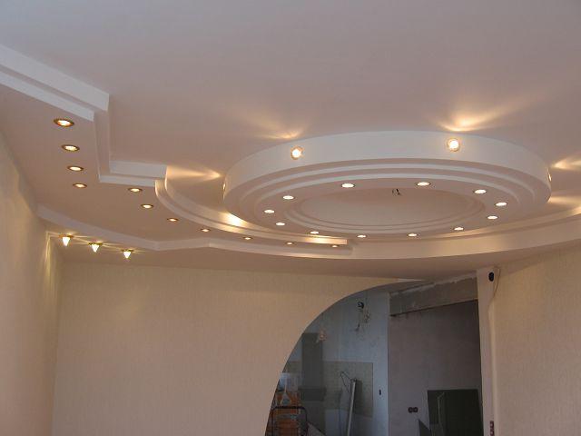 Фотография многоуровневого потолка из гипсокартона