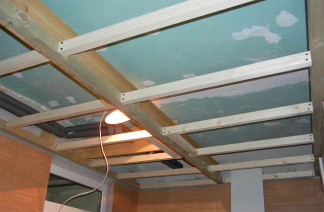 Фото деревянного каркаса потолока