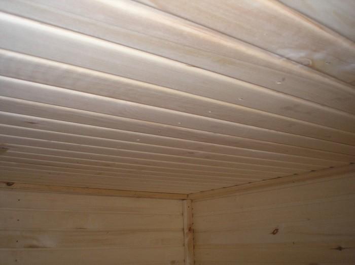 Фото подшивного потолка бани