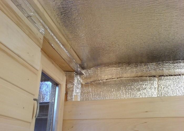 Фото утепления подшивного потолка