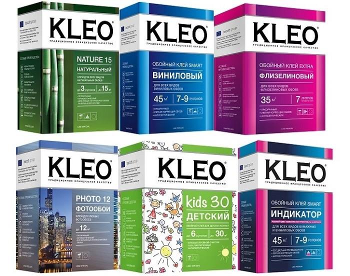 На фото обойный клей производителя KLEO