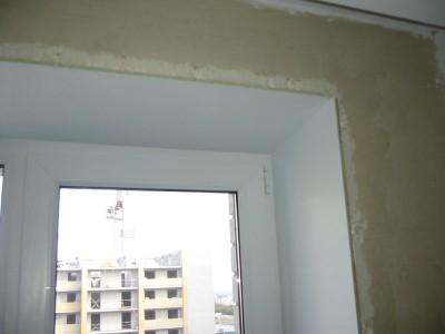 Фотография окна после установки пластиковых откосов