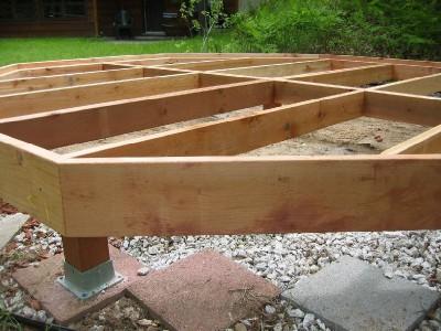 Фотография конструкции свайного фундамента