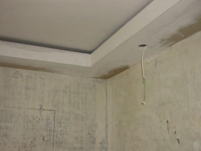 На изображении подвесной потолок из гипсокартона