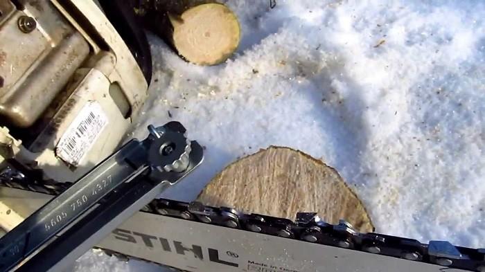 Фотография заточки цепи