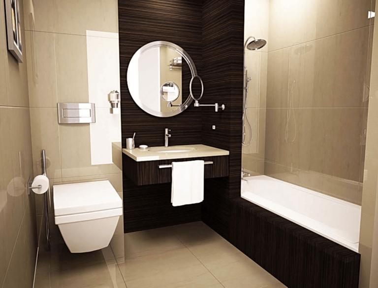 Интерьер ванной комнаты и туалета маленького размера – как создать эксклюзивный дизайн на небольшой площади