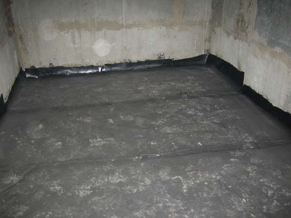 Гидроизоляция чернового бетона