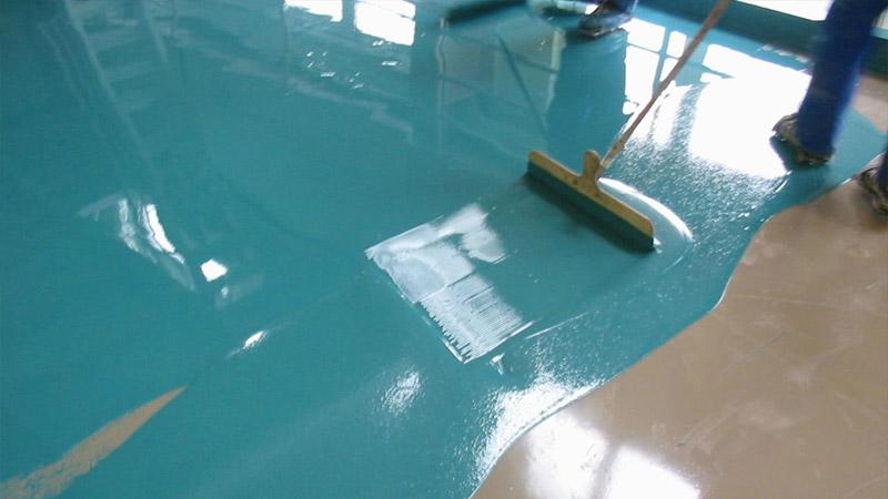 Покраска бетонной стяжки пола
