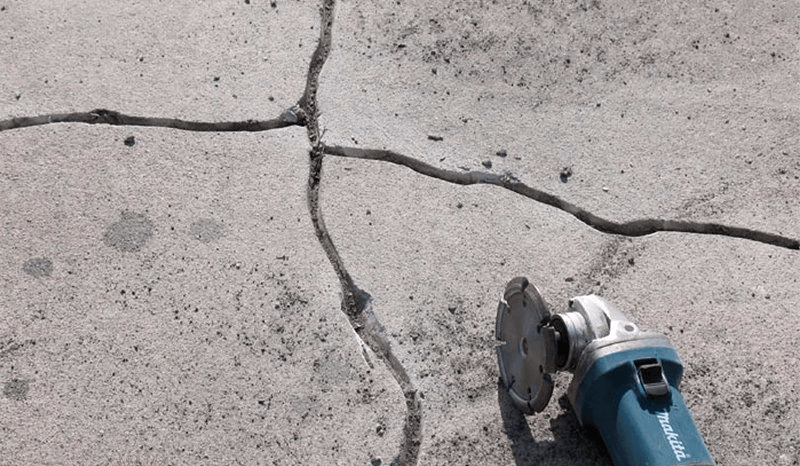 Расшивка трещин в бетоне