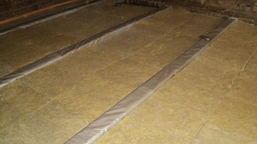Термоизоляция деревянного пола минватой