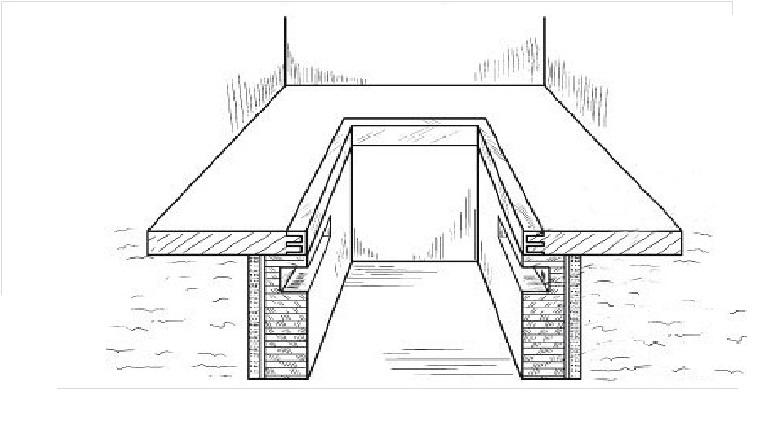 Аксонометрическое изображение смотровой ямы