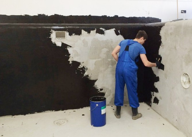 Гидроизоляция бетона жидкой резиной