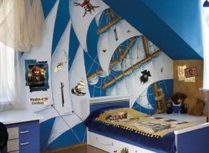 Детская комната для мальчишек, которые влюблены в Пиратов Карибского моря