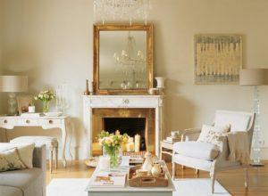 Гостиная в пастельных тонах в стиле прованс