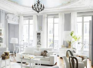 Интерьер гостиной во французском стиле