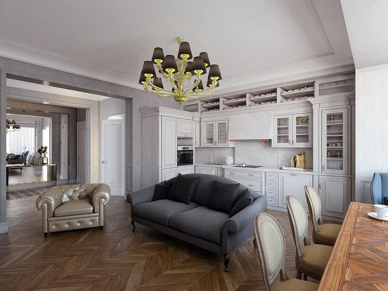 Маленькая квартира во французском стиле