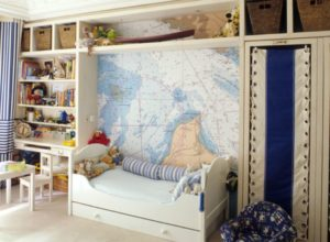 Морская тематика в девчоночьей комнате