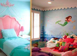 Мотивы любимого мультика в морской тематике детской комнаты
