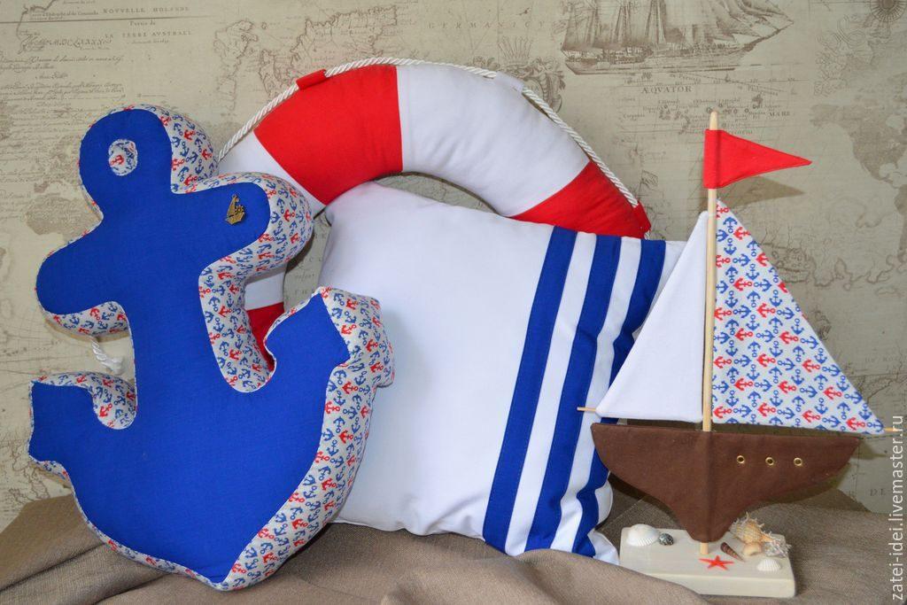 текстильные подушки морской тематики