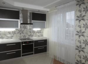 Кисея в современном дизайне кухни