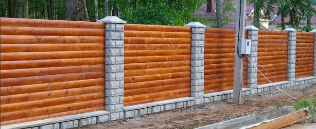 Забор из металлической вагонки