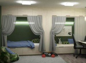 Дизайн детской в виде казармы